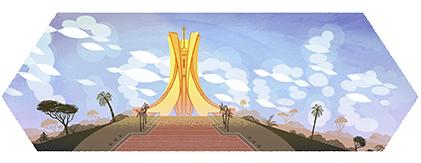 Google Logo: Independence Day of Algeria - 2012