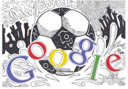 Google Logo: Doodle 4 Google 'I Love Football' Regional Winner - Middle East and North Africa